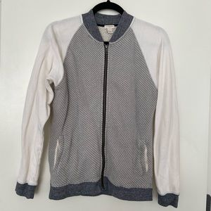 Cotton light bomber zip sweater